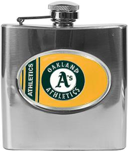 MLB Oakland Athletics 6oz Stainless Steel Flask