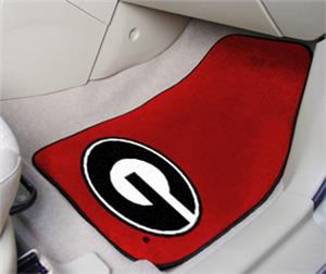 Fan Mats University of Georgia Red Carpet Car Mats