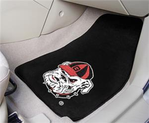 Fan Mats University of Georgia Bulldog Car Mats