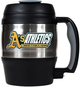 MLB Athletics 52oz Stainless Macho Travel Mug