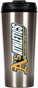 MLB Athletics 16oz Stainless Travel Tumbler