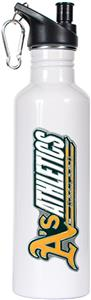 MLB Oakland Athletics White Stainless Water Bottle