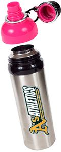 MLB Oakland Athletics Water Bottle w/Pink Top