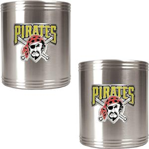 MLB Pittsburgh Pirates Stainless Steel Can Holders