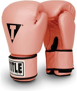 Title Boxing Pink Leather Aerobic Boxing Gloves