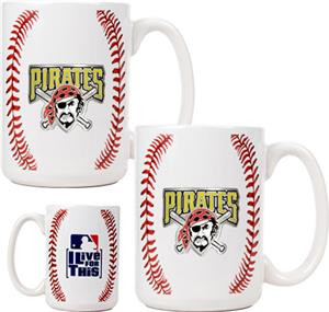 MLB Pirates Ceramic Gameball Mug Set of 2