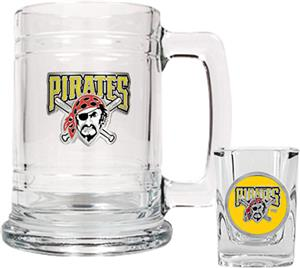 MLB Pittsburgh Pirates Boilermaker Gift Set