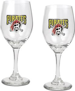 MLB Pittsburgh Pirates 2 Piece Wine Glass Set
