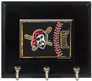 MLB Pittsburgh Pirates Wood Keyhook Rack