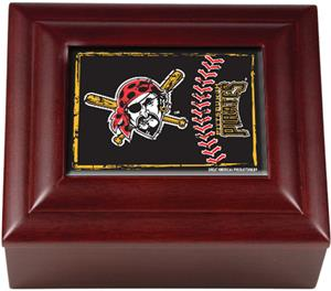 MLB Pittsburgh Pirates Mahogany Keepsake Box