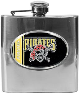 MLB Pittsburgh Pirates 6oz Stainless Steel Flask