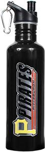 MLB Pirates Black Stainless Water Bottle