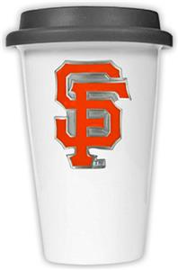 MLB Giants Double Wall Ceramic Cup w/Black Lid