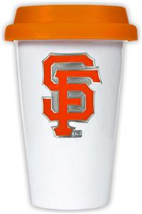 MLB Giants Double Wall Ceramic Cup w/Orange Lid