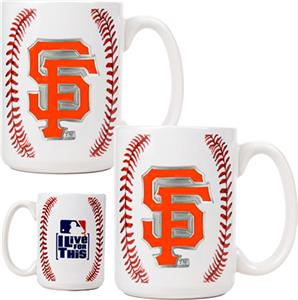 MLB Giants Ceramic Gameball Mug Set of 2