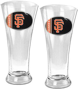 MLB San Francisco Giants 2 Piece Pilsner Glass Set