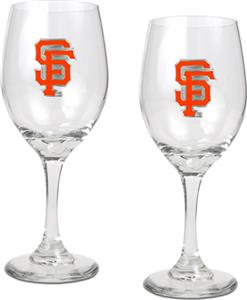 MLB San Francisco Giants 2 Piece Wine Glass Set