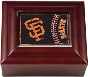 MLB San Francisco Giants Mahogany Keepsake Box
