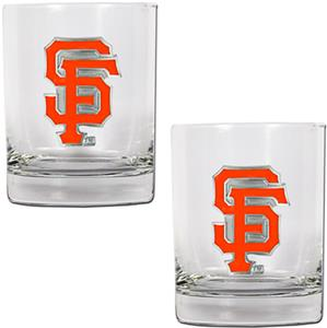 MLB Giants 2 piece 14oz Rocks Glass Set