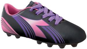 Diadora Avanti MD JR Soccer Cleats - Black/Pink/Pu