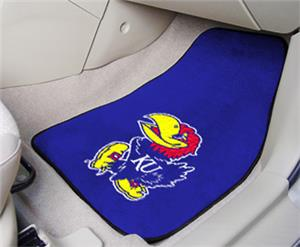 Fan Mats Univ of Kansas Carpet Car Mats (set)