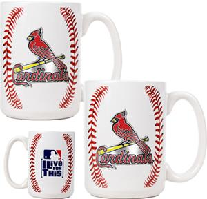 MLB Cardinals Ceramic Gameball Mug Set of 2