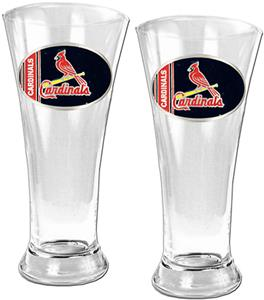 MLB St. Louis Cardinals 2 Piece Pilsner Glass Set