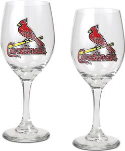 MLB St. Louis Cardinals 2 Piece Wine Glass Set