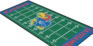 Fan Mats University of Kansas Football Runner