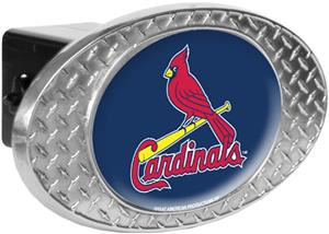 MLB St. Louis Cardinals Diamond Plate Hitch Cover