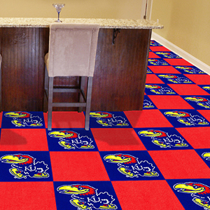 Fan Mats University of Kansas Team Carpet Tiles