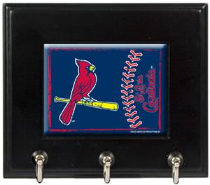 MLB St. Louis Cardinals Wood Keyhook Rack