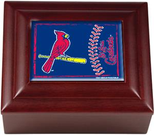 MLB St. Louis Cardinals Mahogany Keepsake Box