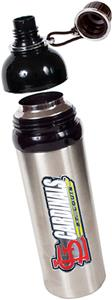 MLB Cardinals Stainless Water Bottle w/Black Top