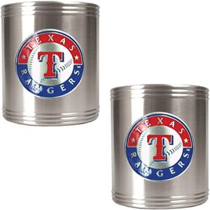 MLB Texas Rangers Stainless Steel Can Holders