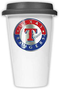 MLB Rangers Double Wall Ceramic Cup w/Black Lid