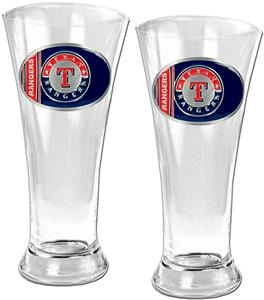 MLB Texas Rangers 2 Piece Pilsner Glass Set