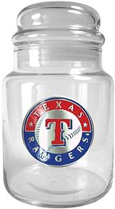 MLB Texas Rangers Glass Candy Jar