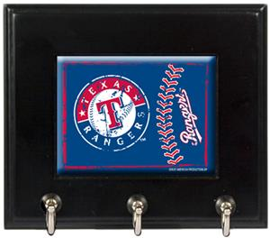 MLB Texas Rangers Wood Keyhook Rack