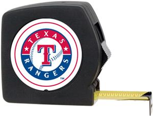 MLB Rangers 25' Tape Measure Crystal Coat Logo