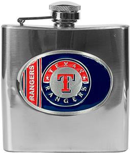 MLB Texas Rangers 6oz Stainless Steel Flask