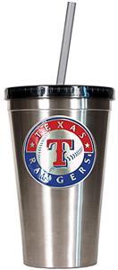 MLB Texas Rangers Stainless Tumbler w/Straw