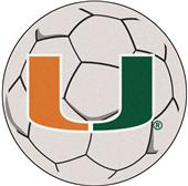 Fan Mats University of Miami Soccer Ball