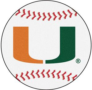 Fan Mats University of Miami Baseball Mat
