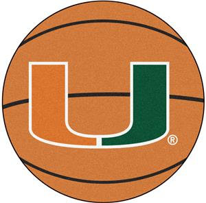 Fan Mats University of Miami Basketball Mat