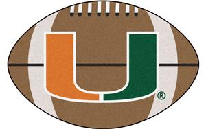 Fan Mats University of Miami Football Mat