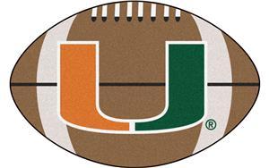 Fan Mats University of Miami Football Mat