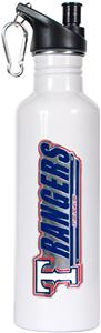 MLB Texas Rangers White Stainless Water Bottle