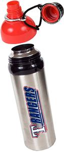 MLB Texas Rangers Stainless Water Bottle w/Red Top