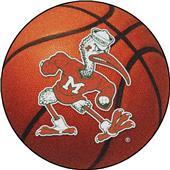 Fan Mats Miami Hurricanes Basketball Mat